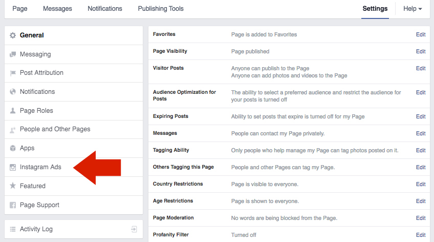 How to use facebook posts as instagram ads pipeline social media once you are in this section of the settings click add an account to link your instagram account to your facebook page ccuart Gallery