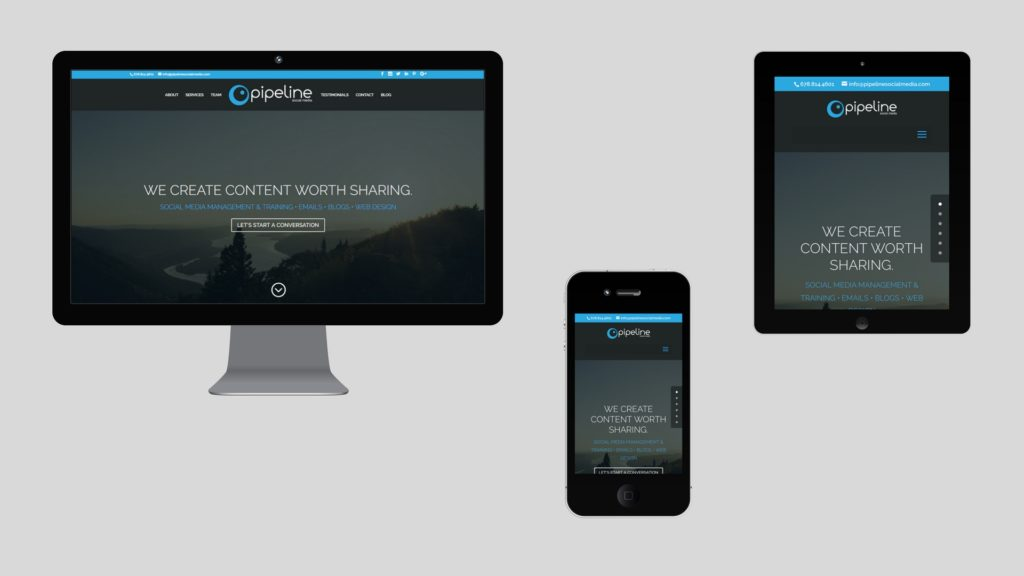 Pipeline responsive web design