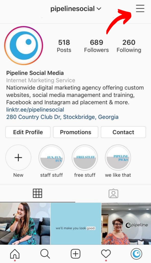 Pipeline Instagram profile