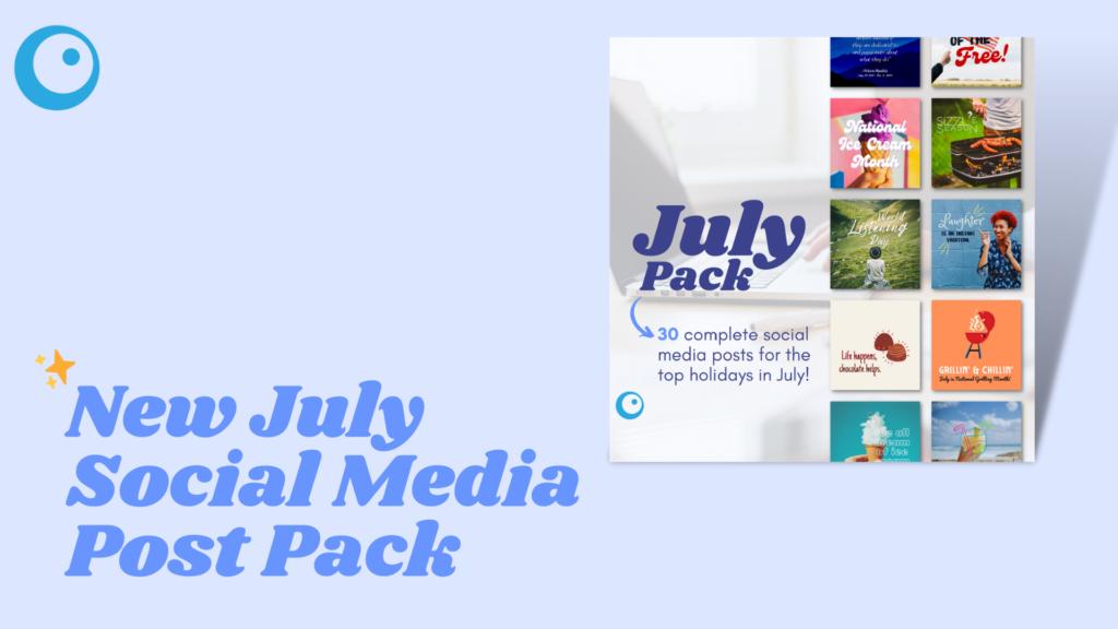 july holidays 2021 social media post pack